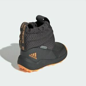 Adidas G27180 infant toddler Rapida Snow boots grey/orange