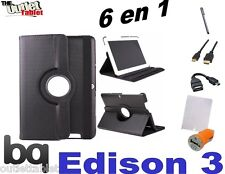 """PACK 6 IN 1 COVER SWIVEL FOR TABLET BQ EDISON 3 QUAD CORE 10.1"""" + ACCESSORIES"""
