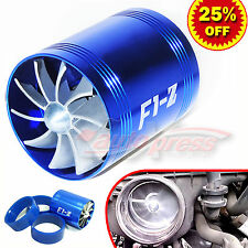 For FORD Supercharger COLD AIR INTAKE TURBO DUAL Gas Fuel Saver Fan BL 2.5-3.0""