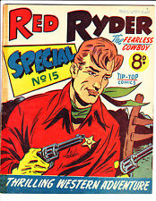 "Red Ryder Special No 15 1950's -Australian-"" Two Revolvers Drawn Cover ! """