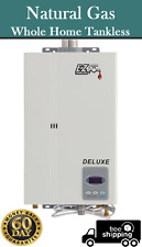 EZ Deluxe NATURAL GAS Tankless Water Heater 1-2 bath homes On Demand Open Box