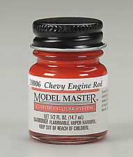 Testors Chevy Engine Red 1/2oz Lacquer Paint Bottle 28006 TES28006