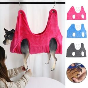 Pet Hammock Helper Dog Cat Grooming Hammock Restraint Bag for Bath Nail Trimming
