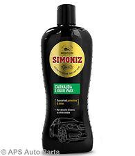 Simoniz Carnauba Liquid Wax Car Polish Auto Care Protection & Shine 500ml New