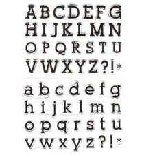 Clear Alphabet Stamp - Upper and Lower case 58 stamps in Total New