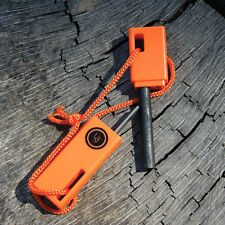 UST Sparkforce Compact Flint Fire Starter Flint & Steel Striker w Lanyard Orange