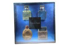 4 Pcs Calvin Klein Mini Set With 0.5 oz./15 ml Edt For Men New In Box