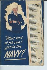 ME-111 - 1942 What Kind of Job Can I get in the Navy, Vintage Recruiting Booklet