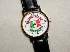 """PROUD TO BE MEXICAN""  WATCH CHRISTMAS GIFT BLACK BAND NEW MEXICO"