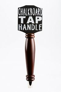Dark Wood Chalkboard Beer Tap Handle For Draft Beer Lover's Kegerator or Bar