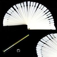 50 Pcs False Nail Tip Polish Palette Nail Art Practice Fan Color Sticker Display