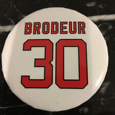 Martin Brodeur #30 Jersey Banner Retirement Night Pin Button NJ Devils