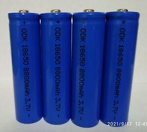 4 batterie pila ricaricabile a litio 3,7 v. 8800 mha / 35 grammi