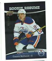 2015 Connor McDavid Upper Deck Contours Rookie Resume #ed to 399