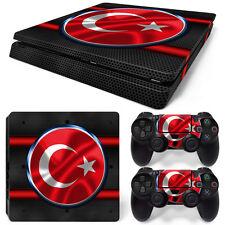 SONY PS4 PlayStation 4 Slim Skin Adesivo Pellicola Protettiva Set - Turkey Motif
