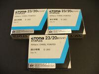 punti Etona 23/20 per cucitrici alto spessore . 3 scatole da 1000 pezzi