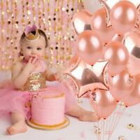 30pcs Rose Gold Balloon Confetti Balloon Bouquet Wedding Birthday Party Decor US