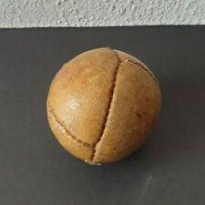 Toller alter Echtleder Wurfball - um 1920 - handgenäht - sehr dekorativ