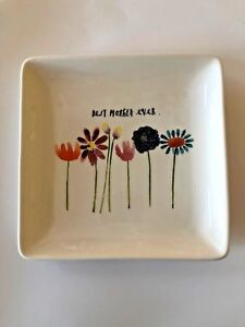 NEW Rae Dunn Collection Best Mother Ever Plate Flowers