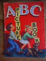 1940's Vintage 1948 ABC Picture Book Elementary Whitman Publishing Racine WI