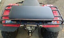 "24"" X 12"" BLACK REAR RACK SEAT PAD HONDA POLARIS KAWASAKI SUZUKI ARCTIC CAT ATV"