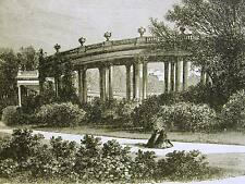 Sans Souci COLONNADE in GERMANY 1872 Antique Engraving Print Matted