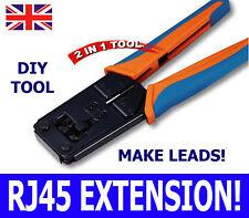 RJ45 RJ11 plug câble patch lan cordon fin Crimp Outil CAT6