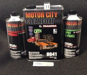 Transtar Motorcity Clearcoat 8041 with 8014 SLOW Activator! Free Shipping!