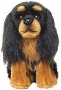 """Cavalier Black & Tan Faithful Friends Soft Toy Dog 12"""""""
