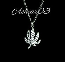 Pot Grass Leaf Cannabis Marihuana Weed Charm Pendant Necklace Men's Women's