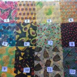 BEESWAX WRAPS & COVERS 8 SIZES $1.00 to $24.00