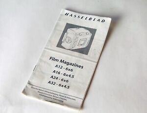 HASSELBLAD LATE STYLE FILM MAGAZINES INSTRUCTION MANUAL