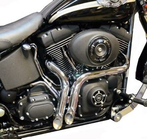 """Chrome 1 3/4"""" LAF L.A.F Porkers Exhaust Drag Short Pipes Harley Softail 86-2017"""
