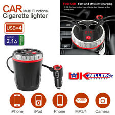 Car Cup Charger Cigarette Lighter 12V/24V Multi Function USB Car Charger Adapter