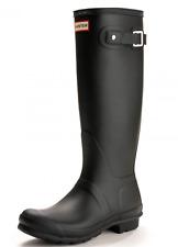 HUNTER ORIGINAL TALL Ladies Rubber Wellington Boots Matt Black UK6 Eu39 #EE36