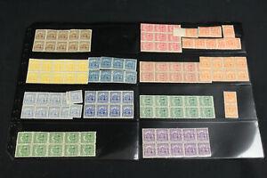 El Salvador 1898 Sc# 177-188 Mint, MNH OG Blocks, Pairs+ C.A. Union 115 Stamps!