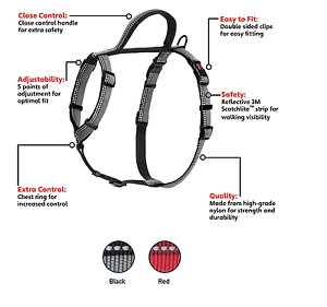 Company of Animals Halti Dog/Puppy Walking Harness Red/Black Small, Med, Large