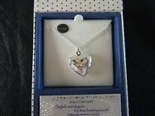 Butterfly Heart Locket Necklace Silver Rose Gold Plated Equilibrium