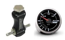 Controlador de refuerzo de manual Turbosmart Negro y Turbosmart 52mm Boost Gauge Bar