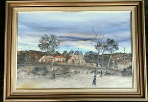 """Neil Savage (1929-2000), large well framed acrylicl on canvas """"Stroud 1887"""""""