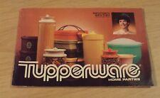 "1981 Sales Brochure Catalog~""TUPPERWARE Home Parties""~"