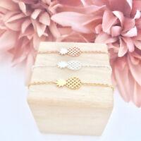 Damen Armband Armbänder Ananas Pineapple Frucht Gold Silber Rosegold Edelstahl