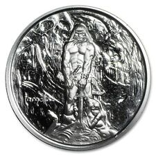"1 oz Frank Frazetta Legacy Series Silver Round ""The Barbarian"" with COA"