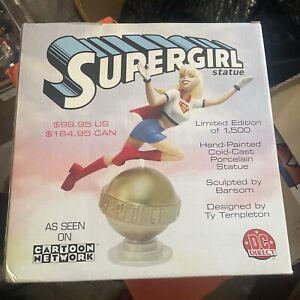 SUPERGIRL Statue ANIMATED Cold-Cast Porcelain DC Direct Superman Batgirl NEW