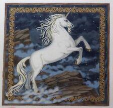 Liz / Susan Roberts Large Unicorn Handpainted Needlepoint Canvas