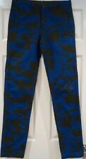 MARC BY MARC JACOBS Noir en Coton Bleu Abstrait Imprimé Pantalon Skinny Jeans Pantalon