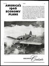 1945 BELLANCA Cruisair Aircraft Photo Antique Vintage Plane Flying Aviation AD