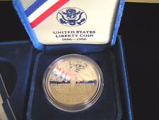 1986 s 1$ US Mint 90% 1$ Silver Proof Liberty Dollar Ellis Island Original Owner