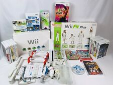 HUGE Nintendo Wii Console Bundle Lot 24 Games 4 Controllers Mario Kart Wii Fit +