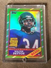 1986 Topps Walter Payton Chicago Bears #WP11 Football Card 2001 reprint